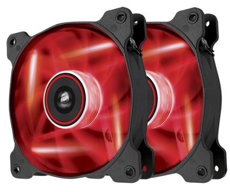 Corsair LED Fan AF120-LED, Red, Dual Pack; CO-9050016-RLED