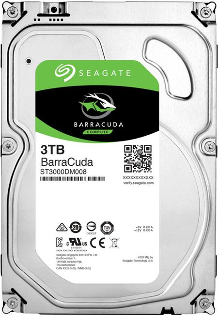 Seagate Barracuda 7200 3TB 3.5'' HDD, SATAIII/600, 7200RPM, 64MB cache; ST3000DM008