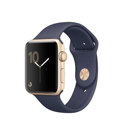 Apple Watch Series 2, 42mm Gold Aluminium Case with Midnight Blue Sport Band; MQ152CN/A