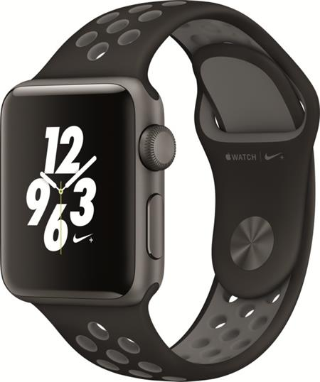 Apple Watch Nike+, 38mm Space Grey Aluminium Case with Anthracite / Black Nike Sport Band; MQ162CN/A