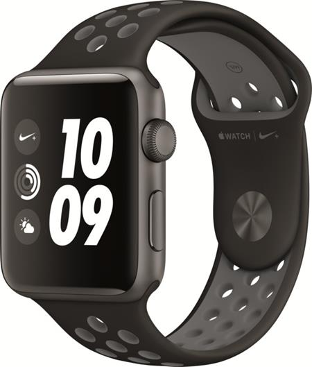 Apple Watch Nike+, 42mm Space Grey Aluminium Case with Anthracite / Black Nike Sport Band; MQ182CN/A