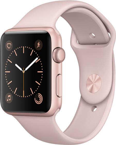 Apple Watch Series 1, 42mm Rose Gold Aluminium Case with Pink Sand Sport Band; MQ112CN/A