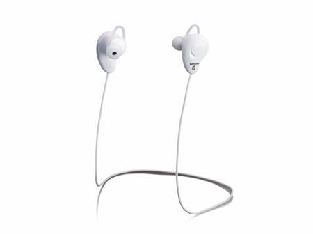 Sportovní sluchátka Lenco EPB-015 bílá; lepb015wh