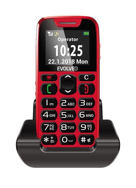 EVOLVEO EasyPhone, červený; EP-500-RED