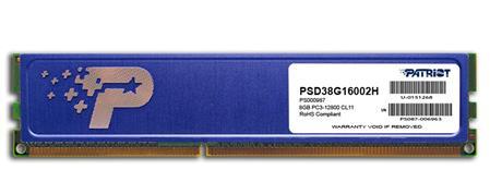PATRIOT 8GB DDR3 1600MHz Patriot CL11 s chladičem; PSD38G16002H