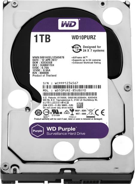 WD Purple 1TB; WD10PURZ