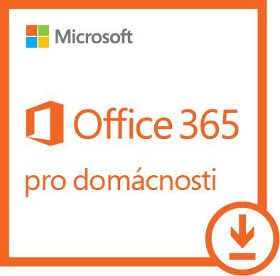 Office 365 pro domácnosti 32-bit/x64 All Lng - předplatné na 1 rok - elektronick; 6GQ-00092
