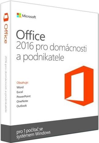 Office 2016 pro domácnosti a podnikatele Win Eng; T5D-02826
