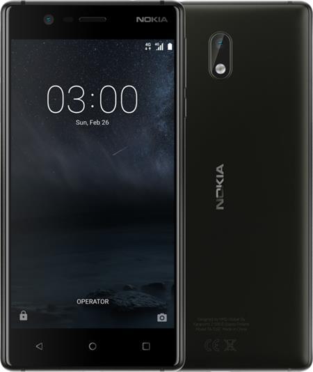 Nokia 3, Dual Sim, černá; 11NE1B01A16