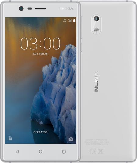 Nokia 3, Dual Sim, bílo/stříbrná; 11NE1S01A14