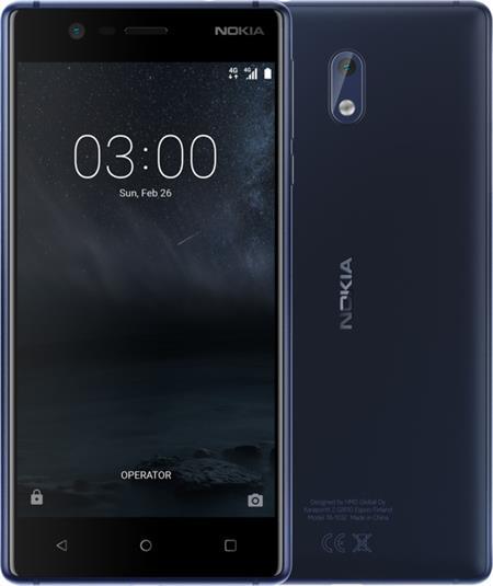 Nokia 3, Dual Sim, modrá; 11NE1L01A13