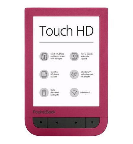 Pocketbook 631 Touch HD, červený; PB631-R-WW