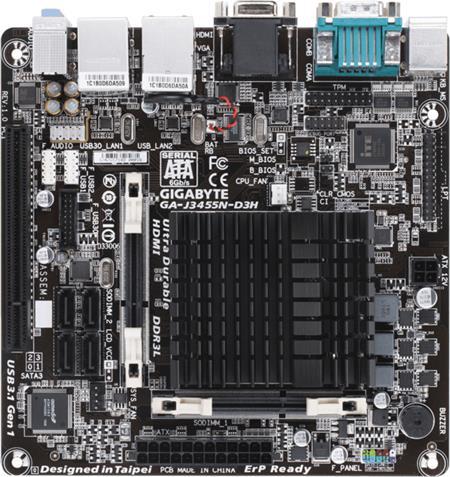 GIGABYTE J3455N-D3H - Intel J3455; GA-J3455N-D3H