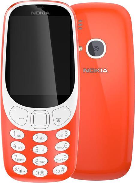 Nokia 3310, Dual Sim, červená; 3310DS-red