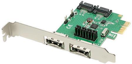 AXAGON PCES-SA4 PCIe řadič 2x int./ext. SATA III 6G ASMedia; PCES-SA4