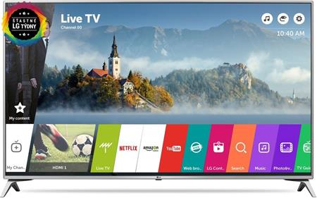 "LG TV UHD 55UJ635V - Smart LED televize, 55"" (3840x2160), DVB-C/T2/S2, H.265, Wifi; 55UJ6517.AEE"