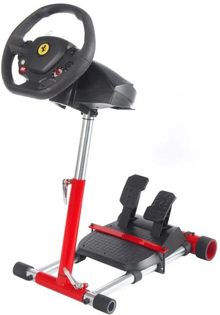 Wheel Stand Pro, stojan na volant a pedály pro Thrustmaster SPIDER, T80/T100,T150,F458/F430, červený; F458 RED - Next Level Racing Wheel Stand Lite NLR-S007