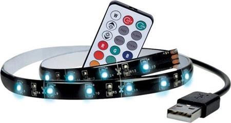 Solight LED RGB pásek pro TV, 2x 50cm, USB, vypínač, dálkový ovladač; WM504 - Solight 4 ks LED RGB pásek pro TV,2x50cm, USB, vypínač, dálkový ovladač Solight WM504