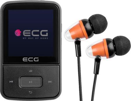 MP4 přehrávač ECG PMP 30 8GB, černý; 150340224958