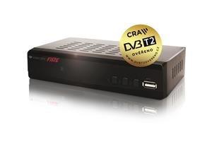 ZIRCON FIRE DVB-T2 HD přijímač s HEVC DVB-T2 ověřeno; DBTZH0002