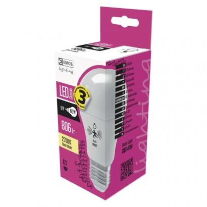 LED žárovka Classic MW senzor A60 9W E27 teplá bílá; 1525733218