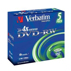 Verbatim média DVD-RW; 43285