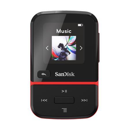 SanDisk MP3 Clip Sport GO 16 GB červená; SDMX30-016G-G46R