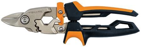 Fiskars PowerGear převodové nůžky na plech, krátké ostří; 1027212