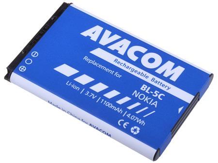 AVACOM Baterie pro mobilní telefon Nokia 6230, N70, Li-Ion 3,7V 1100mAh (náhrada za BL-5C); GSNO-BL5C-S1100A