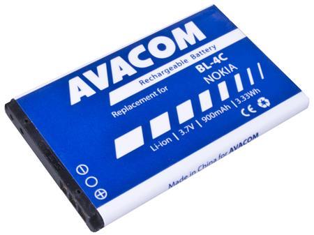 AVACOM Baterie pro mobilní telefon Nokia 6300 Li-Ion 3,7V 900mAh (náhrada za BL-4C); GSNO-BL4C-S900A
