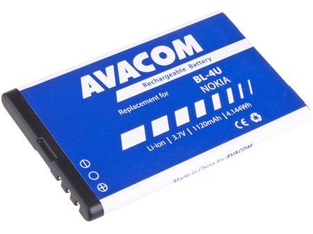 AVACOM Baterie pro mobilní telefon Nokia 5530, CK300, E66, 5530, E75, 5730, Li-Ion 3,7V 1120mAh (náhrada za BL-4U); GSNO-BL4U-S1120A