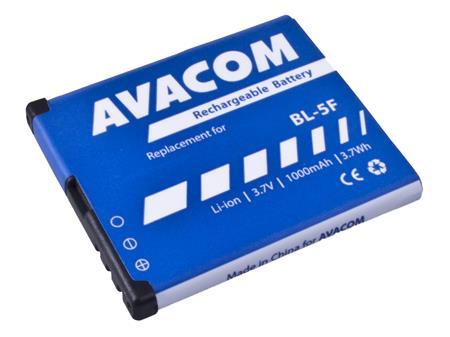 AVACOM Baterie pro mobilní telefon Nokia N95, E65, Li-Ion 3,6V 1000mAh (náhrada za BL-5F); GSNO-BL5F-S1000A