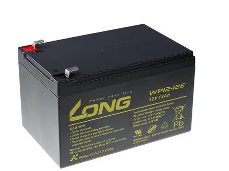 Long 12V 12Ah olověný akumulátor DeepCycle AGM F2 (WP12-12E); PBLO-12V012-F2AD