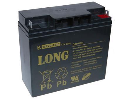 Long 12V 20Ah olověný akumulátor DeepCycle AGM F3 (WP20-12IE); PBLO-12V020-F3AD