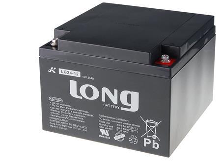Long 12V 24Ah olověný akumulátor DeepCycle GEL F3 (LG24-12); PBLO-12V024-F3GD