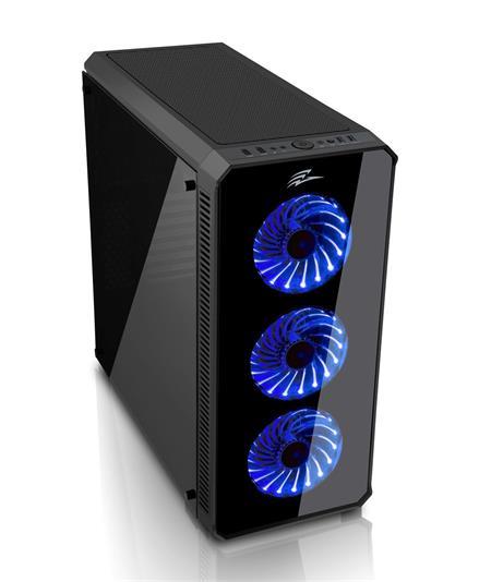 EVOLVEO RAY 5, case ATX, 3x LED modrý ventilátor; CAER5