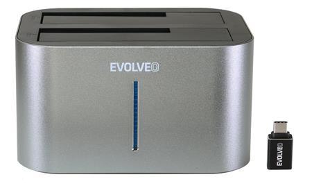 EVOLVEO Dion 2, 10Gb/s, dokovací stanice, USB 3.1 A + redukce USB A/USB C; DION2