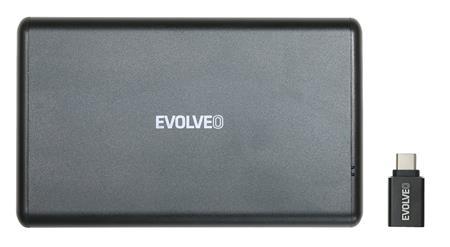 """EVOLVEO 2.5"""" Tiny 2, 10Gb/s, externí rámeček na HDD, USB A 3.1 + redukce USB A/USB C; TINY2 - Externí box Evolveo HDE Tiny2"""