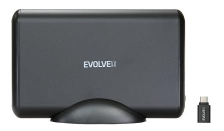 """EVOLVEO 3.5"""" Tiny 5, 10Gb/s, externí rámeček na HDD, USB 3.1 A + redukce USB 3.1 A/USB C ; TINY5"""