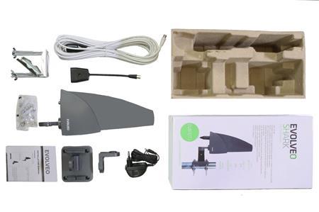 EVOLVEO Shark 35dB, aktivní venkovní anténa DVB-T/T2; SHARK01