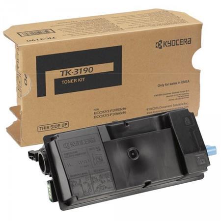 Kyocera originální toner TK-3190, black, 25000str., 1T02T60NL0, Kyocera ECOSYS P3055dn, P3060dn; 1T02T60NL0