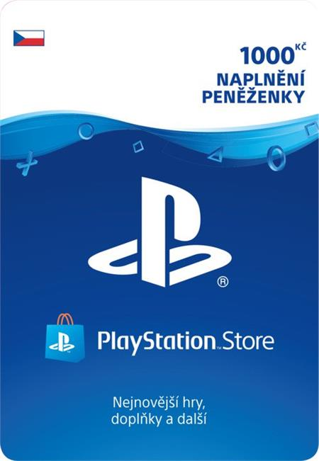 Sony PlayStation Network Card 1000 CZK (PS3, PS4, PSV) (PS4); 52912