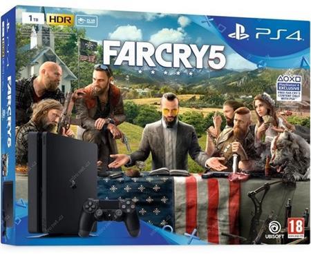 Sony Playstation 4 Slim 1TB Black + Far Cry 5 (PS4); 9104256