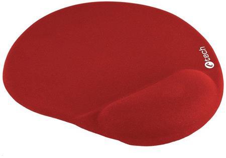 Podložka pod myš gelová C-TECH MPG-03, červená, 240x220mm; MPG-03R