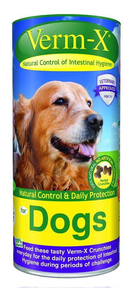 Verm-X Přírodní granule proti střevním parazitům pro psy 100g; VE-01