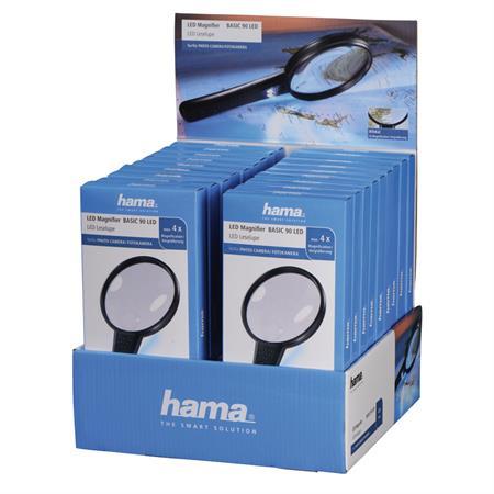 Hama ruční lupa Basic 90 LED, balení 18 ks (cena je uvedená za 1 kus); 5445