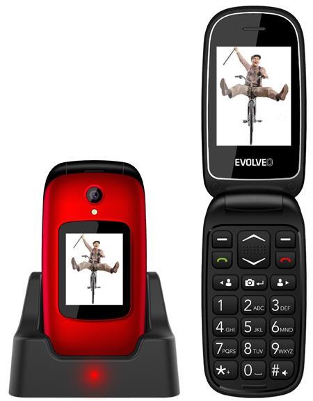Evolveo EasyPhone FD, červený; EP-700-FDR