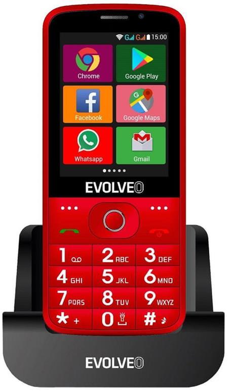 Evolveo EasyPhone AD, červený; EP-900-ADR