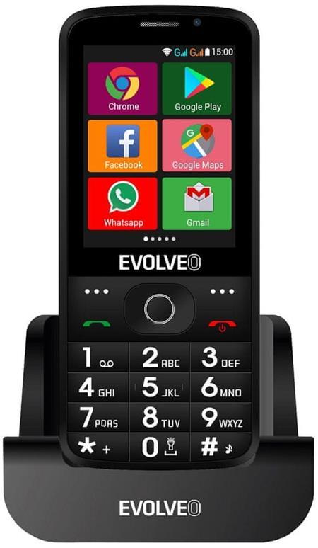 Evolveo EasyPhone AD, černý; EP-900-ADB