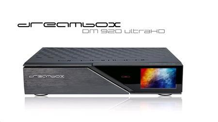 Dreambox DM 920 UHD (1x DVB-S2X FBC MultiStream + 1x dual T2/C); DRE920T2 - Dreambox DM920